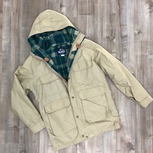Woolrich plaid flannel lined utility jacket